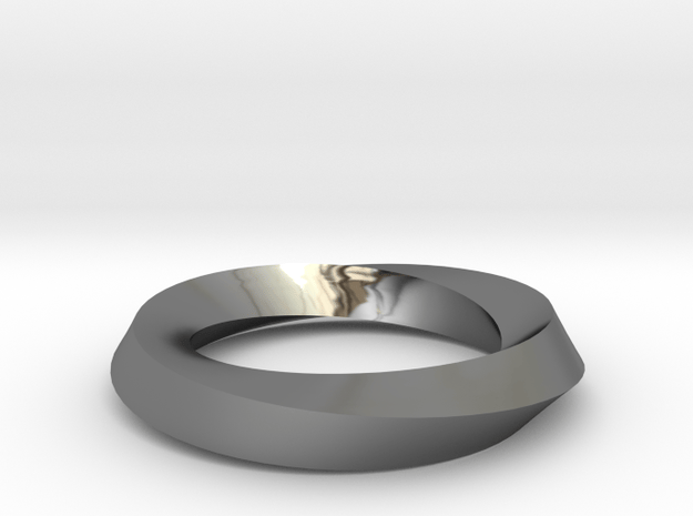 RingSwirl180 in Fine Detail Polished Silver