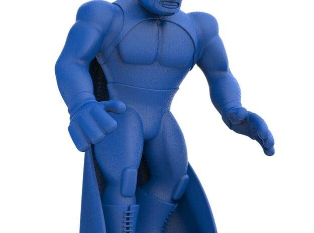 Mexican Wrestler #3: Blue Demon in Blue Processed Versatile Plastic