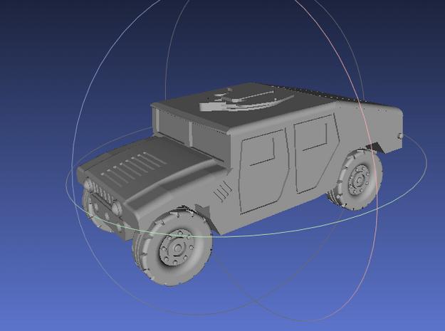 1/144 Humvee Slantback (Single Pack) in White Processed Versatile Plastic