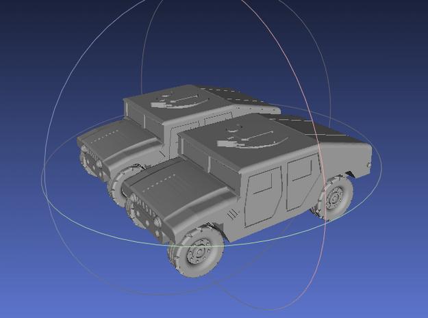 1/144 Humvee Slantback (Dual Pack) in White Processed Versatile Plastic