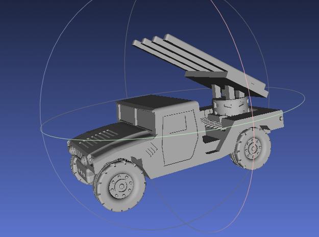 1/144 Humvee SL-AMRAAM launch position (Single Pac in White Processed Versatile Plastic