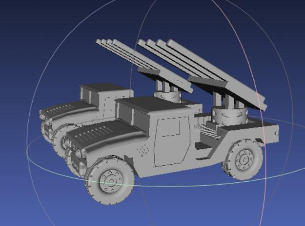 1/144 Humvee SL-AMRAAM launch position (Dual Pack) in White Processed Versatile Plastic