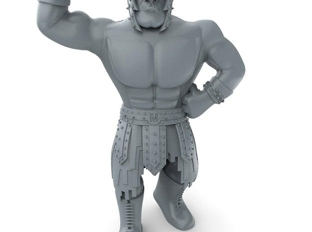 Mexican Wrestler #5: El Gladiator in Red Processed Versatile Plastic