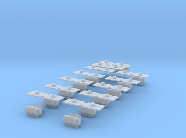 Spare Parts Pieces in Smooth Fine Detail Plastic
