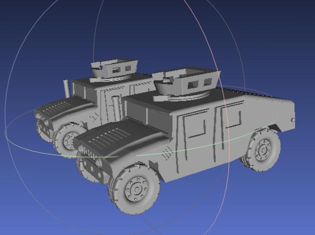 1/144 Humvee UAH (Dual Pack) in White Processed Versatile Plastic