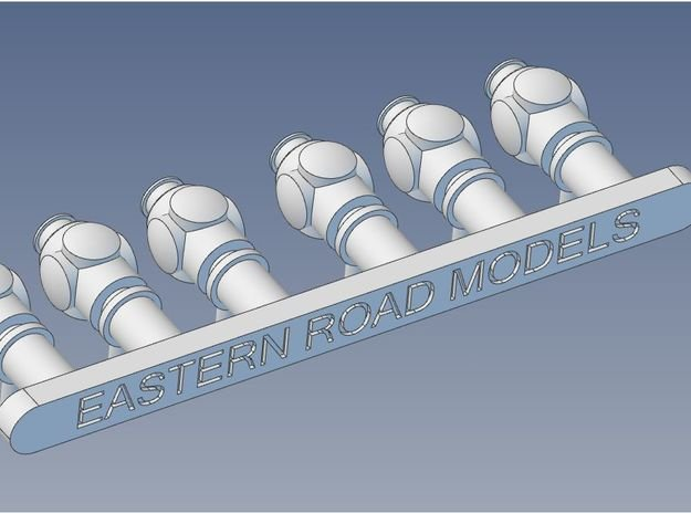 S scale Marker Lamps X 6 in Smooth Fine Detail Plastic