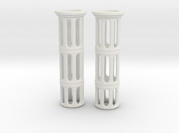 Turboshafts  in White Natural Versatile Plastic