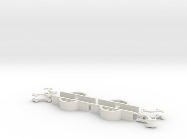 Fallhakenkupplung Feldbahn 0e-GN15 in White Natural Versatile Plastic