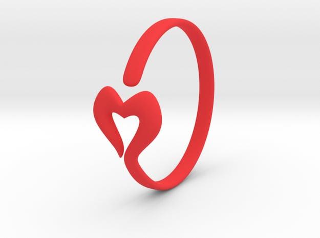 Heartin in Red Processed Versatile Plastic