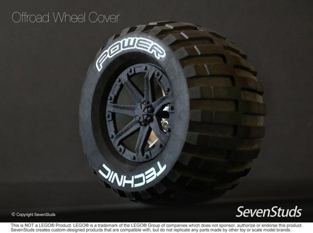 Offroad Wheel Cover 02_56mm in Black Natural Versatile Plastic