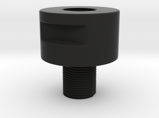 Barrel Adapter Thread Male14mmCW toFemale14mmCCW in Black Natural Versatile Plastic