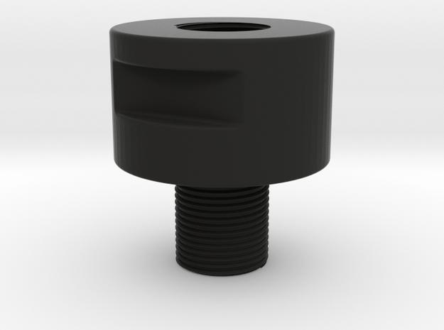 Barrel Adapter Thread Male 14 mm CCW to Female 14m in Black Natural Versatile Plastic