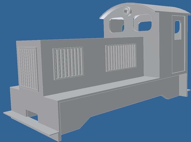 H0e Feldbahn Diesellok kurz in Smooth Fine Detail Plastic