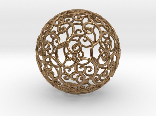 Triskel celtic sphere 3 (2,8+4) in Natural Brass