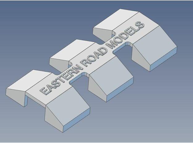 CP GP-7 GP-9 Pilot Blocks X 6 HO 9mm in Smooth Fine Detail Plastic