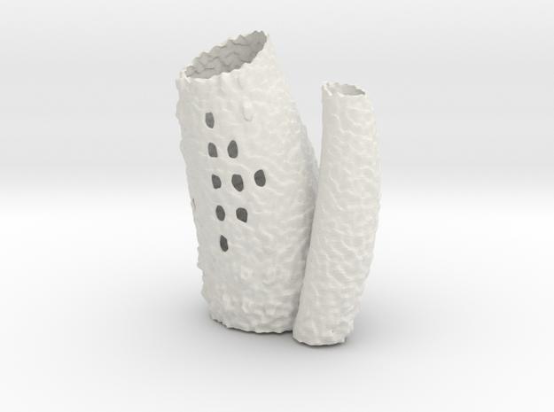 Porifera Vase / Holder - Small in White Natural Versatile Plastic