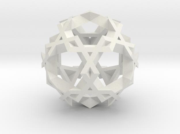Asterisk Ball - 2.4 cm in White Natural Versatile Plastic