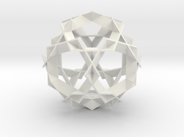 Asterisk Ball - 7.2 cm in White Natural Versatile Plastic