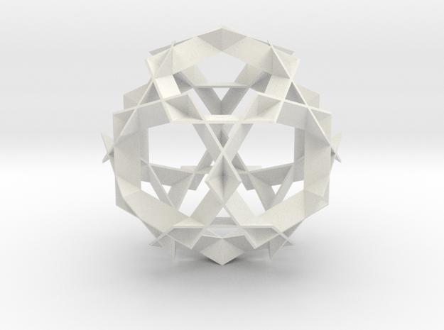 Asterisk Ball - 9.6 cm in White Natural Versatile Plastic