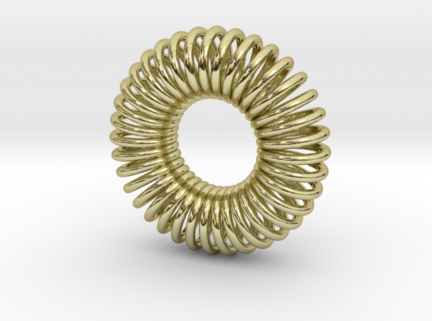 Torus Pendant 23mm in 18k Gold Plated Brass