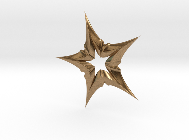 Star In A Star Distortion in Natural Brass
