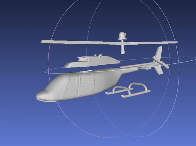 1/144 OH-58 Kiowa / JR 206  in White Processed Versatile Plastic