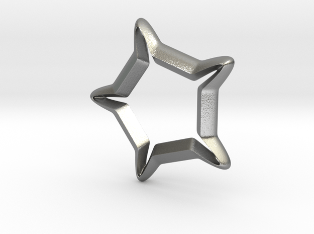 Star In A Star Sci-fi Smooth in Natural Silver