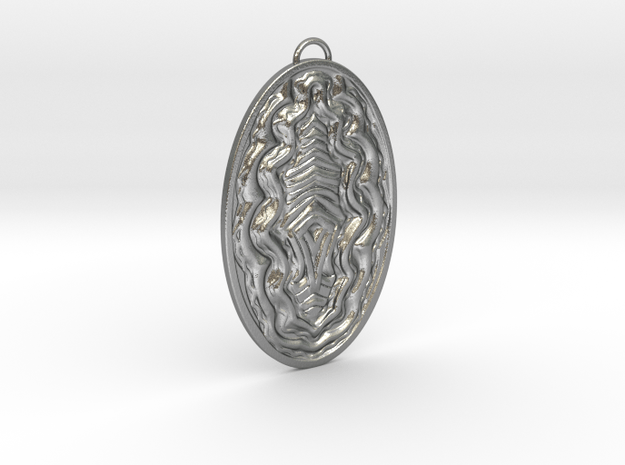 Wave Necklace  in Natural Silver