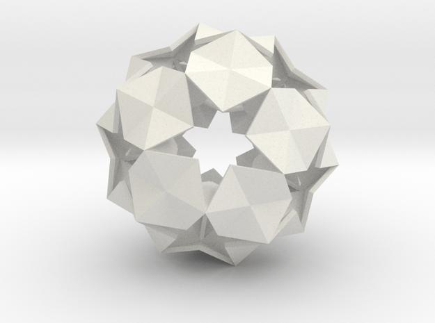 20 Hexagons Ball - 5.6 cm in White Natural Versatile Plastic