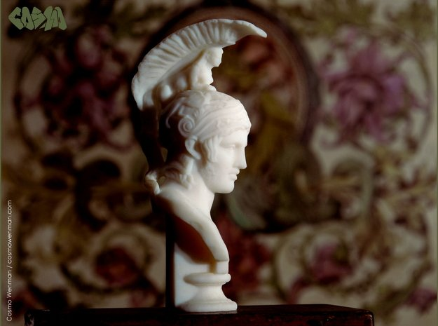Bust of Ares, god of war in White Natural Versatile Plastic