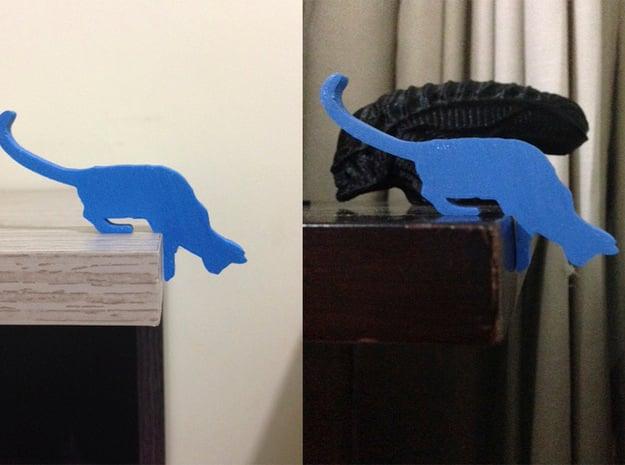 Desk Cat in Blue Processed Versatile Plastic