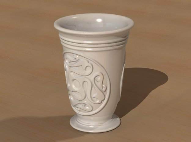 Celtic cup with swastika ornament