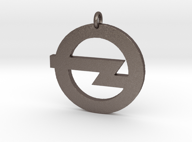 Foo Fighters Logo Pendant 1 (Customizable) in Polished Bronzed Silver Steel