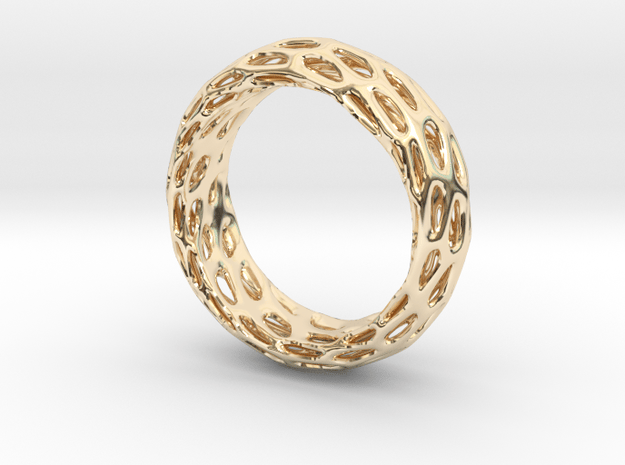 Trous Ring S9 in 14K Yellow Gold
