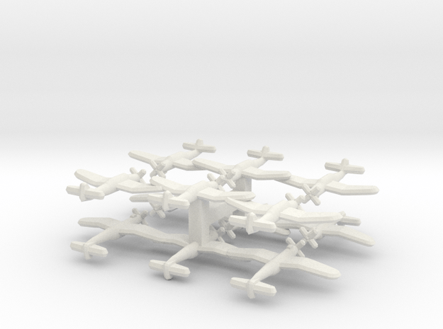 B7A2 Grace (Triplet) 1:900 x4 in White Natural Versatile Plastic