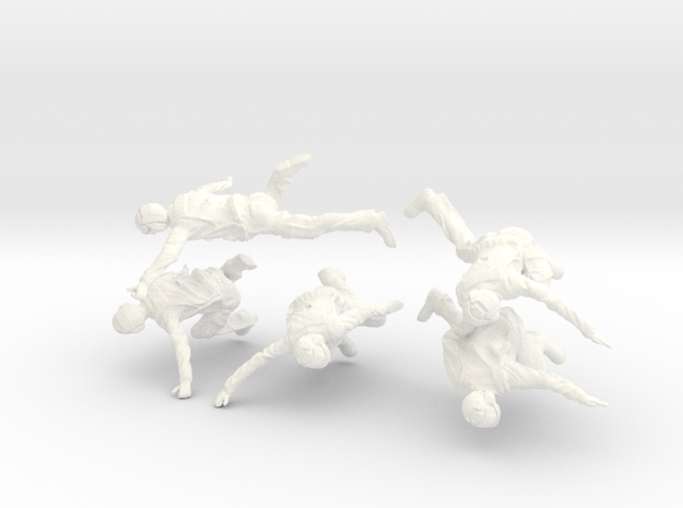 32-H0070: Carrier catapult 1 or 3 crew scale 1:32 in White Processed Versatile Plastic