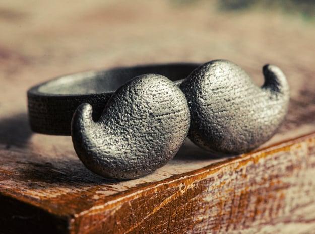 Mustache Type:4  in Polished Nickel Steel