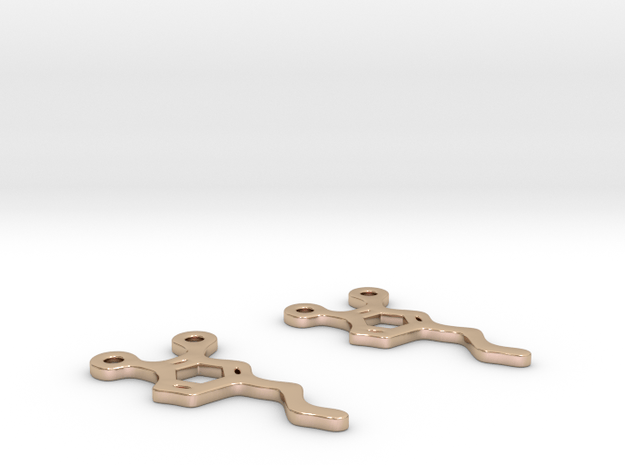 Dopamine Earrings in 14k Rose Gold Plated Brass