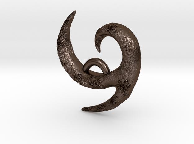 Kokiri Pendant  in Polished Bronze Steel