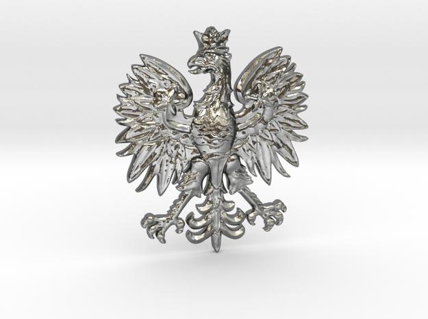 Polish Eagle Pendant in Polished Silver