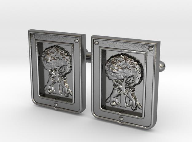 Borbolla Cufflinks in Polished Silver