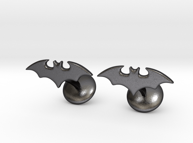 Batman Gotham Knights Cufflinks in Polished and Bronzed Black Steel