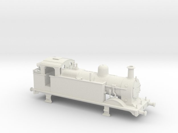 Ex Midland Rly 3F after condensing removed in White Natural Versatile Plastic