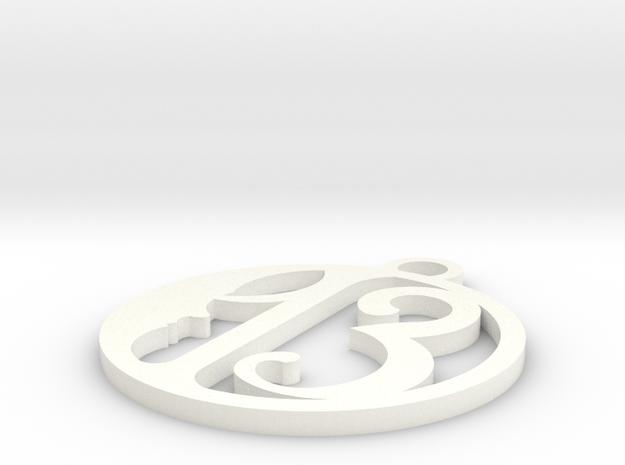 13 in White Processed Versatile Plastic