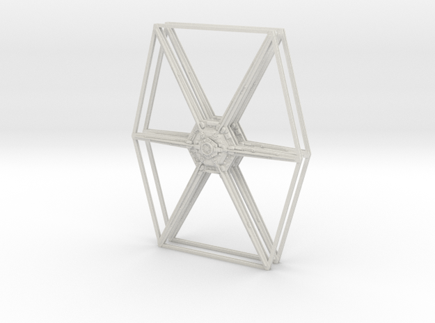 1:38 Scale TIE Fighter Wing Assembly in White Natural Versatile Plastic