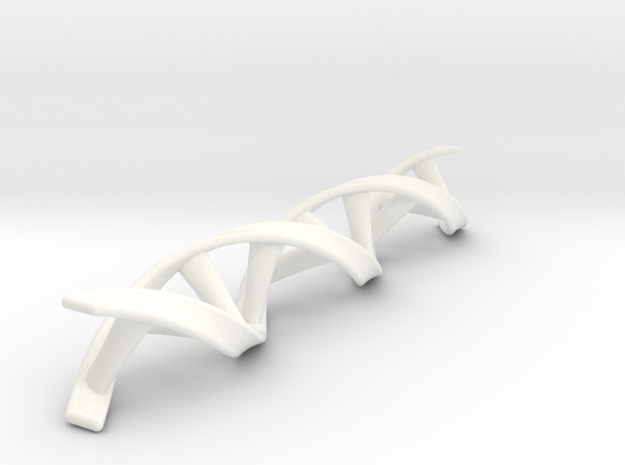 DNA double helix scaled up by 2 in White Processed Versatile Plastic