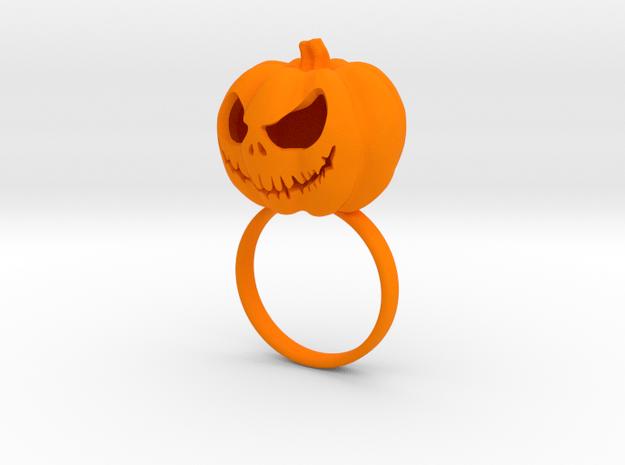 Pumpkin ring - Size 7 in Orange Processed Versatile Plastic