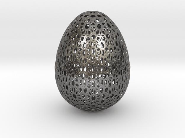 Beautiful Bigger Egg Ornament (15cm Tall) in Polished Nickel Steel