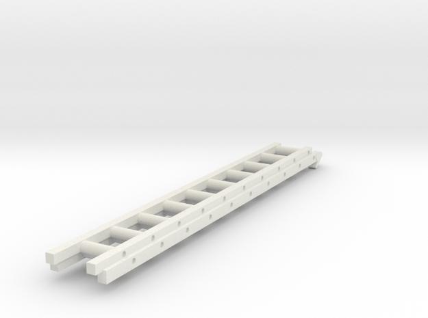 HO 1/87 Ladder segarve high pressure pumper in White Natural Versatile Plastic
