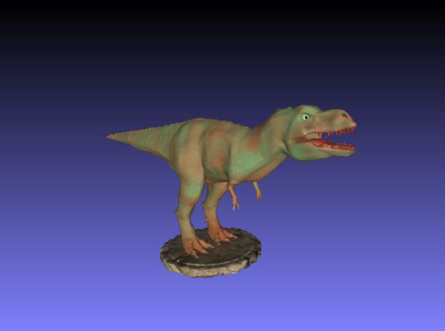 Dinosaurs World Tyrannosaurus Trex Full Color in Smooth Fine Detail Plastic